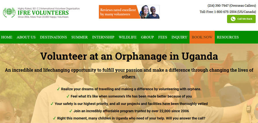childcare program for volunteer