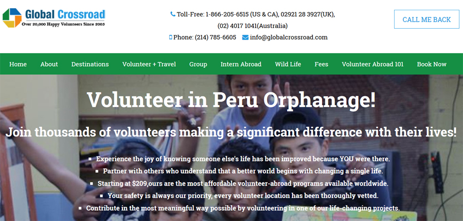 supporting needy child in peru